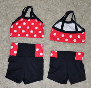 RED & BLACK/ WHITE DOTS DANCE SET