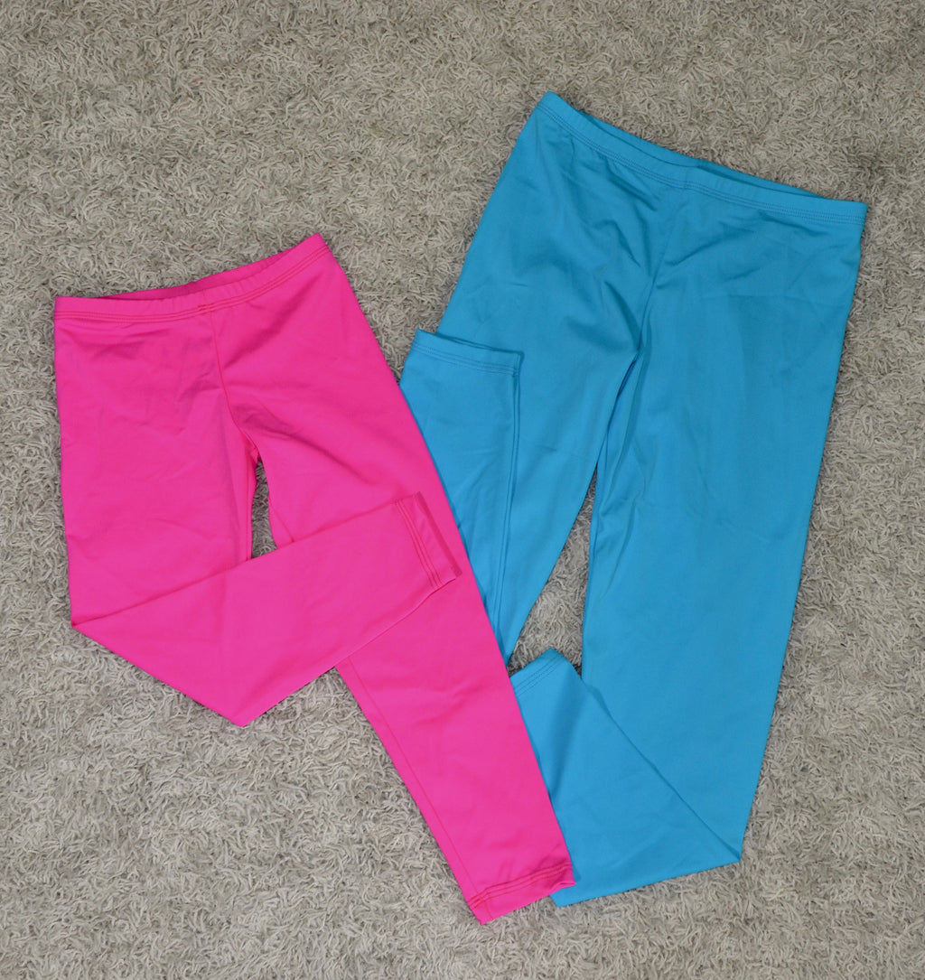LEGGINGS, NEON BLUE