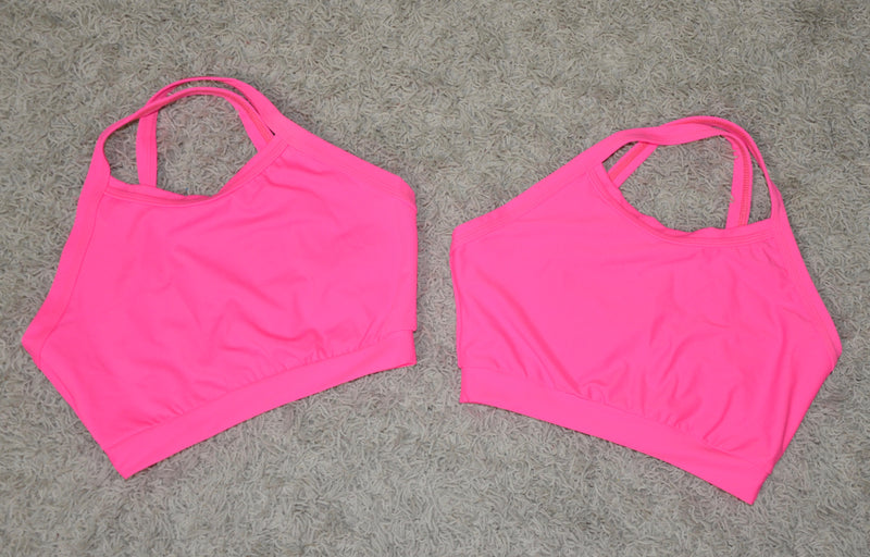 CROP TOP, HOT PINK