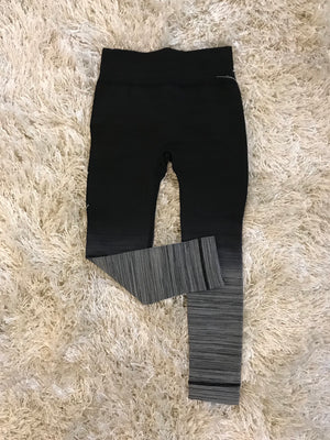 CHILD OMBRE LEGGINGS BLACK/CHARCOAL