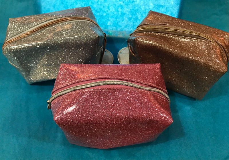 Small Glitter Makeup Bag