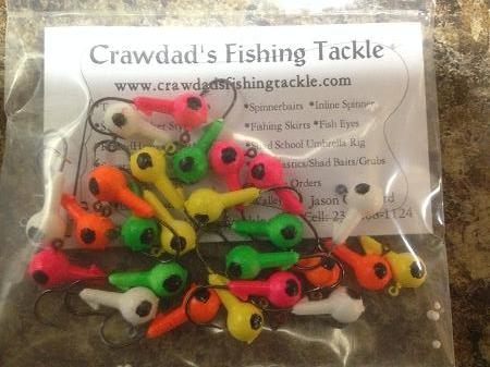 56 Piece Walleye Fishing Kit Incl: Floating Jigs, Trolling Sinkers, & Grubs