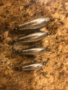 25 Pack Choose Your Size 3/4oz, 1oz, 1.5oz, 2oz Trolling Sinker Weights with Black Crane swivels