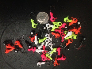 25 Pack 1/16oz Round Head Floating Jigs #6 Hooks