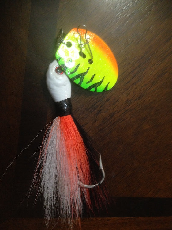 Muskie Shaker, Bucktail Chatter Style Jig 1.5oz