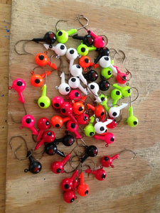 25 Pack 3/8oz Round Head Floating Jigs 2/0 Hooks