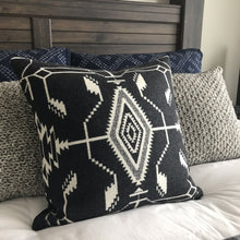 Black and White Wool Pillow Cover - River House MT
