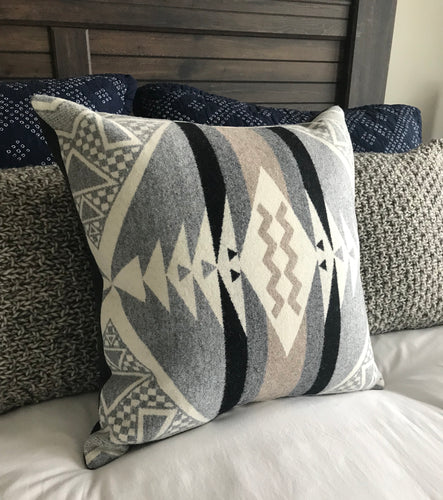 Diamond Ridge Wool Throw Pillow Cover - River House MT