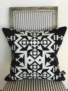 Snowflake Tribal Wool Pillow Cover - River House MT