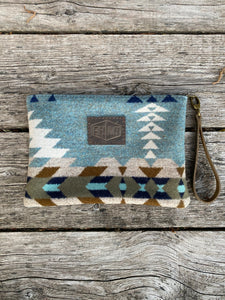 Medium Zippered Wool Clutch
