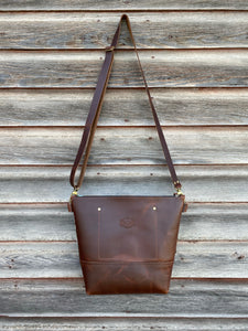 Fairfield Wool and Leather Crossbody Bag - River House MT
