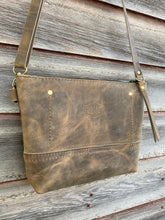 Small Fairfield Wool and Leather Crossbody Bag