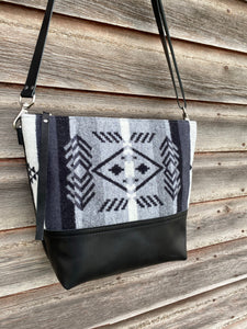 Fairfield Wool and Leather Crossbody Bag