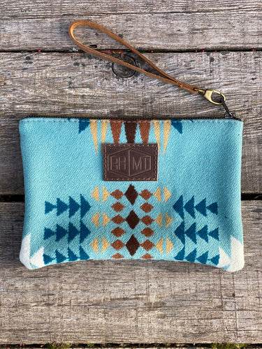 Medium Zippered Wool Clutch - River House MT
