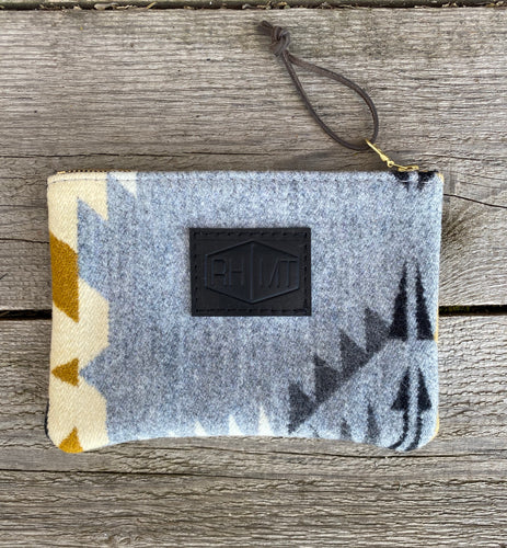 Small Zippered Pendleton® Wool Clutch - River House MT