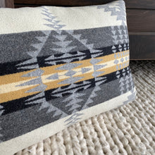 Silver Rancho Arroyo Pendleton® Wool Throw Pillow Cover