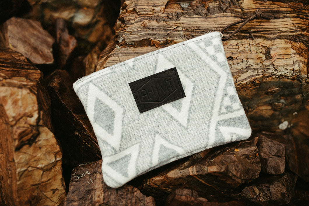 Zippered wool clutch - River House MT