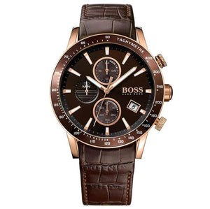 HUGO BOSS |  Brown / Rose Gold Men's Rafale Chrono Watch | 1513392