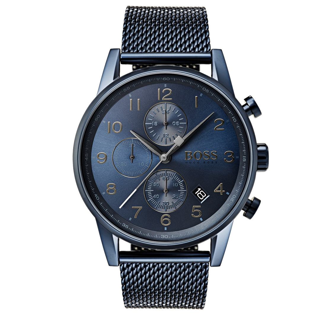 HUGO BOSS | Navy Blue Men's Navigator (GQ Edition) Chrono Watch | 1513538