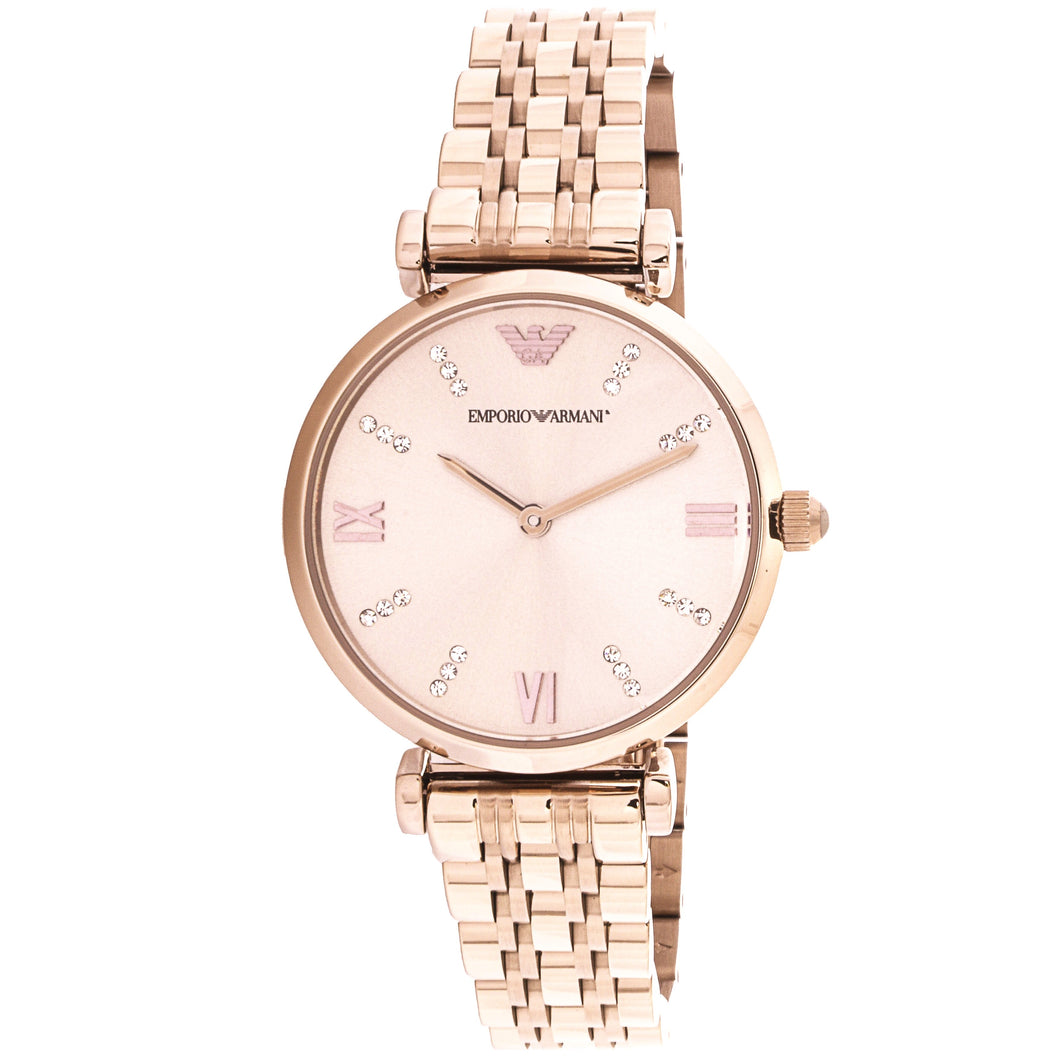 EMPORIO ARMANI | Rose Gold / Pink Haze Gianni T-Bar Ladies' Watch | AR11059