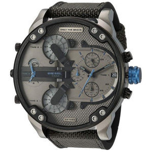 DIESEL | Black / Gunmetal / Electric Blue Mr. Daddy 2.0 Men's Chronograph Watch | DZ7420