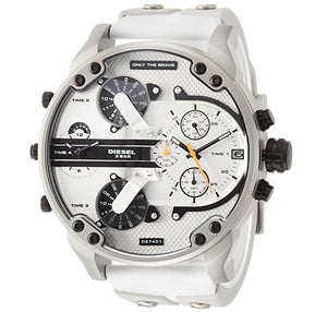 DIESEL | White / Granite / Silver Mr. Daddy 2.0 Men's Chronograph Watch | DZ7401
