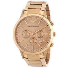 EMPORIO ARMANI | Rose Gold Men's Chronograph Watch | AR2452