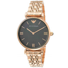 EMPORIO ARMANI | Black / Rose Gold Gianni T-Bar Ladies' Watch | AR11145