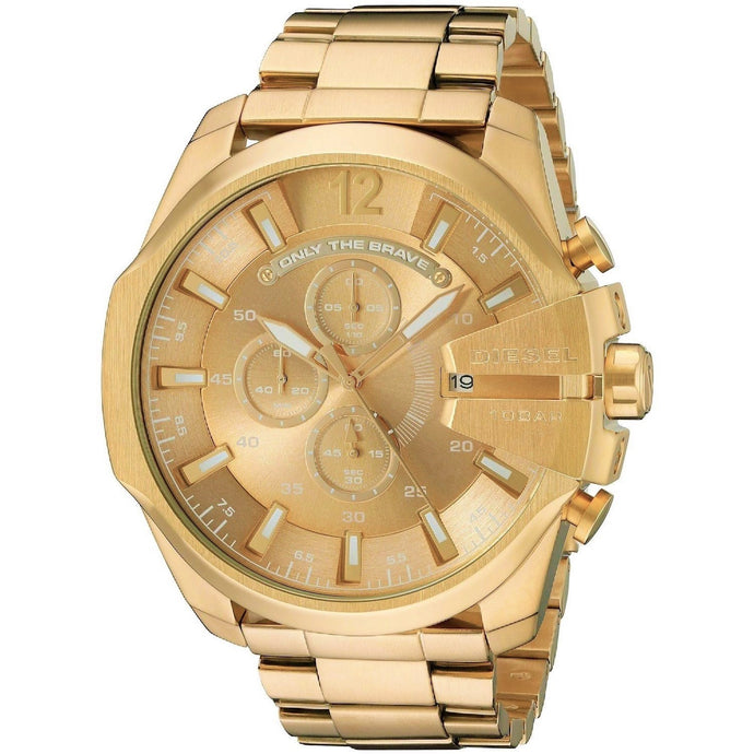DIESEL | All Gold Mega Chief Men's Chronograph Watch | DZ4360
