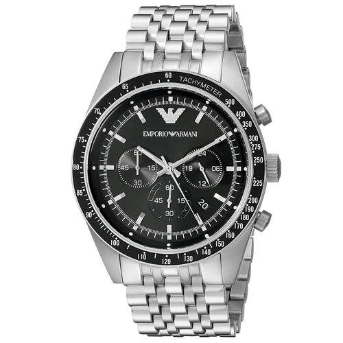 EMPORIO ARMANI | Black / Silver Sportivo Men's Watch | AR5988