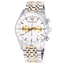 EMPORIO ARMANI | White / Silver / Gold Men's Sportivo Chronograph Watch | AR6116