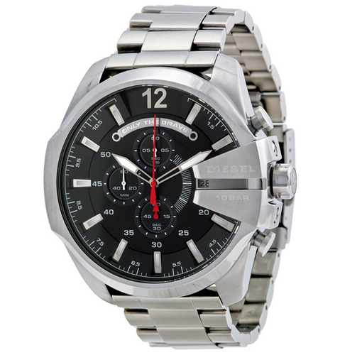 DIESEL | Silver / Black Mega Chief Men's Chronograph Watch | DZ4308