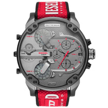 DIESEL | LIMITED EDITION Red / Gunmetal Mr. Daddy 2.0 Men's Chrono Watch | DZ7423