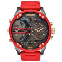 DIESEL | Red / Gold / Gunmetal Mr. Daddy 2.0 Men's Chrono Watch | DZ7430