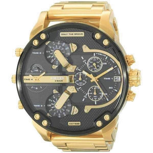 DIESEL | Black / Gold Mr Daddy 2.0 Men's Chronograph Watch | DZ7333