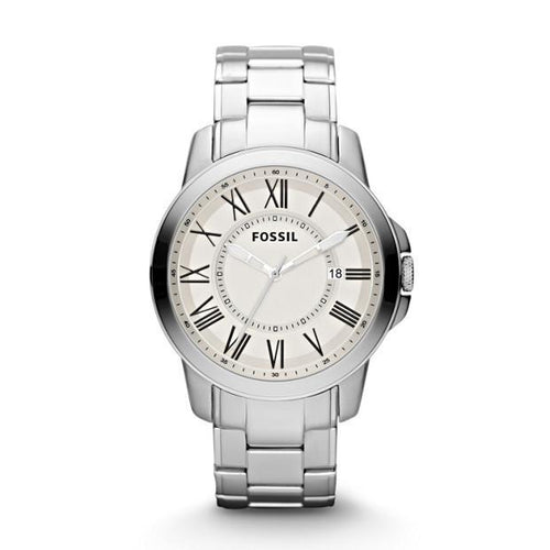 FOSSIL | White / Silver 'Grant' Men's Watch | FS4734