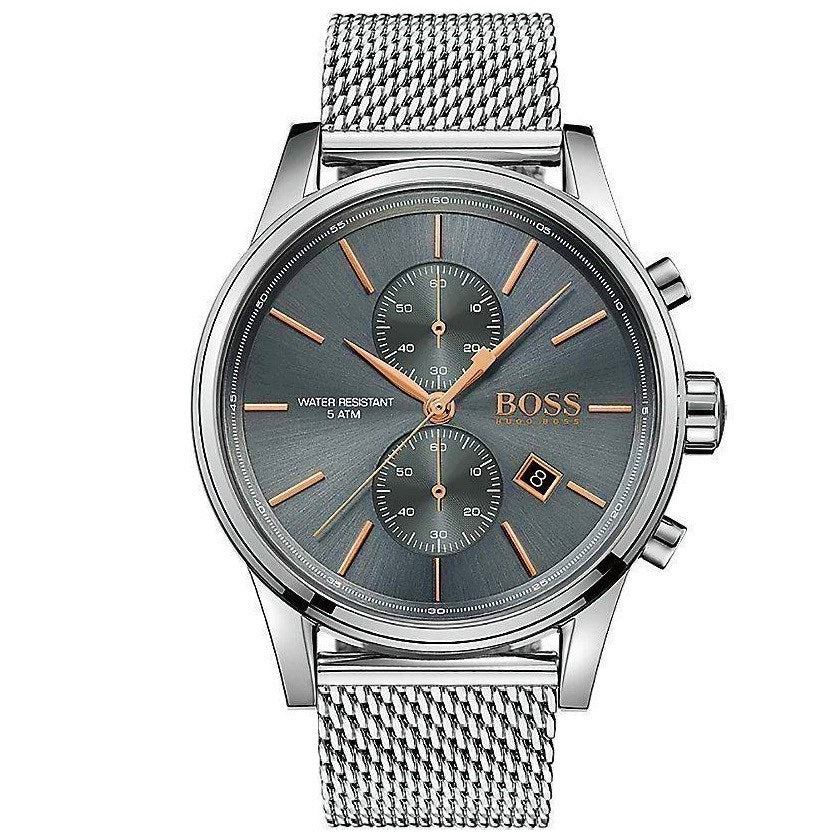 HUGO BOSS | Grey Slate / Silver Mesh Men's Watch | 1513440