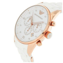 EMPORIO ARMANI | White / Rose Gold Men's Chronograph Watch | AR5919