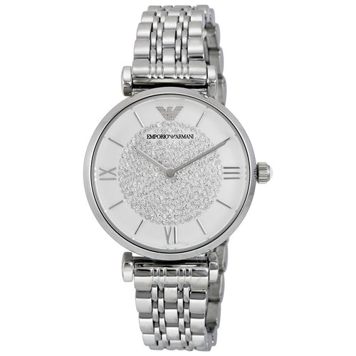 EMPORIO ARMANI | White / Silver Gianni T-Bar Ladies' Watch | AR1925