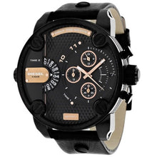 DIESEL | Black / Rose Gold Little Daddy Chronograph Men's Watch | DZ7291