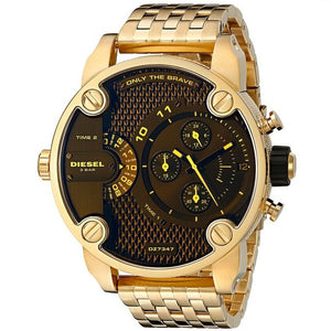DIESEL | Gold / Iridescent Little Daddy Men's Chronograph Watch | DZ7347