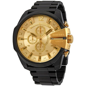 DIESEL | Gold / Black Mega Chief Men's Chronograph Watch | DZ4485