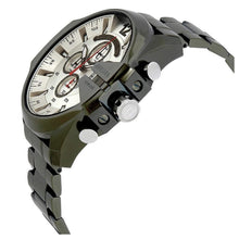 DIESEL | Military Green-Tone Gunmetal / Silver Mega Chief Men's Chrono Watch | DZ4478