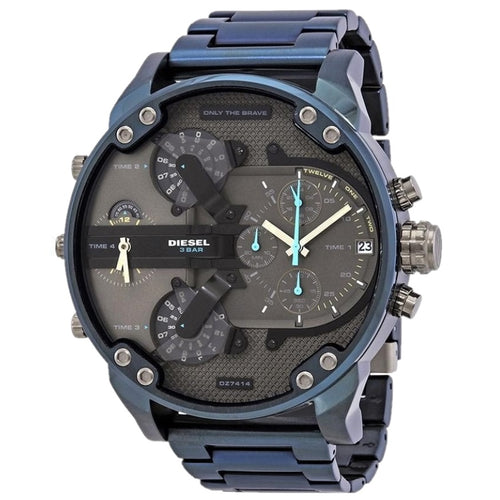 DIESEL | Midnight Blue / Gunmetal Mr Daddy 2.0 Men's Chrono Watch | DZ7414