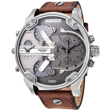 DIESEL | Gunmetal / Brown Leather Mr. Daddy 2.0 Men's Chronograph Watch | DZ7413
