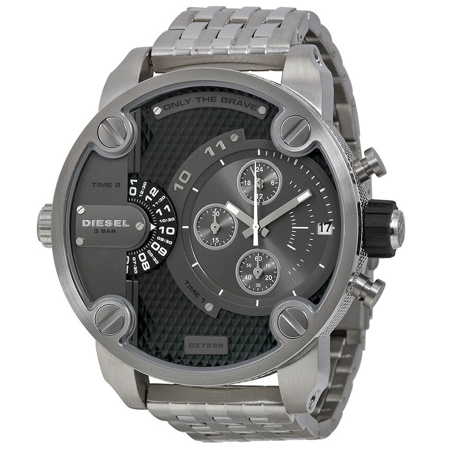 DIESEL | Black / Gold Little Daddy Men's Chronograph Watch | DZ7259