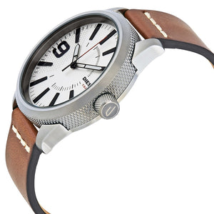 DIESEL | White / Silver / Tan Leather Men's Watch | DZ1803