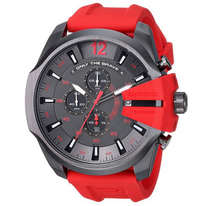 DIESEL | Red / Gunmetal Mega Chief Men's Chronograph Watch | DZ4427