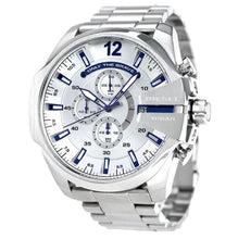DIESEL | White / Silver / Midnight Blue Mega Chief Men's Chrono Watch | DZ4477