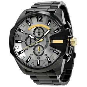 DIESEL | Black / Grey Mega Chief Men's Chronograph Watch | DZ4479